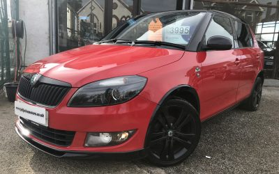 2012 (61) Skoda Fabia 1.2 12V (70bhp) Monte Carlo *Timing Chain Replaced, 2 Keys, Up to 62 MPG* – £3,995 or Finance From £90.18 a Month