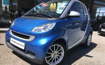 2009 (09) Smart Fortwo Passion Auto *1 Lady Owner, £30 tax, Glass Roof, Up to 68 MPG* – £3,995 or finance from just £114.54 a Month