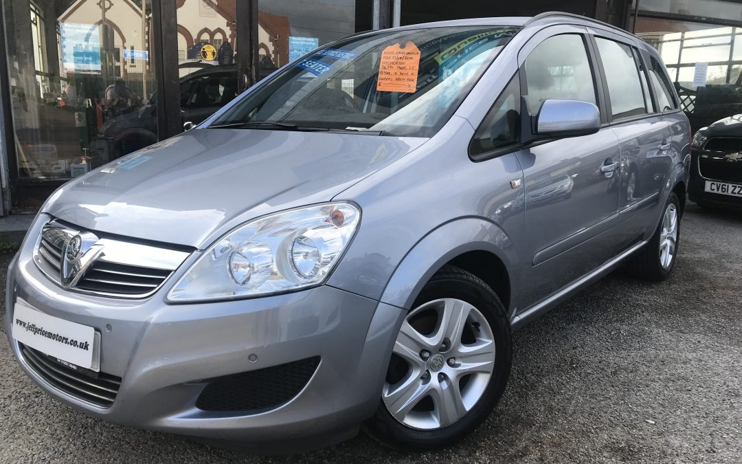 2010 (10) Vauxhall Zafira Exclusive 115 *2 Owners From New, 2 Keys, Up to 51 MPG, 7 Seater* – £3,495 or finance from just £98.17 a month