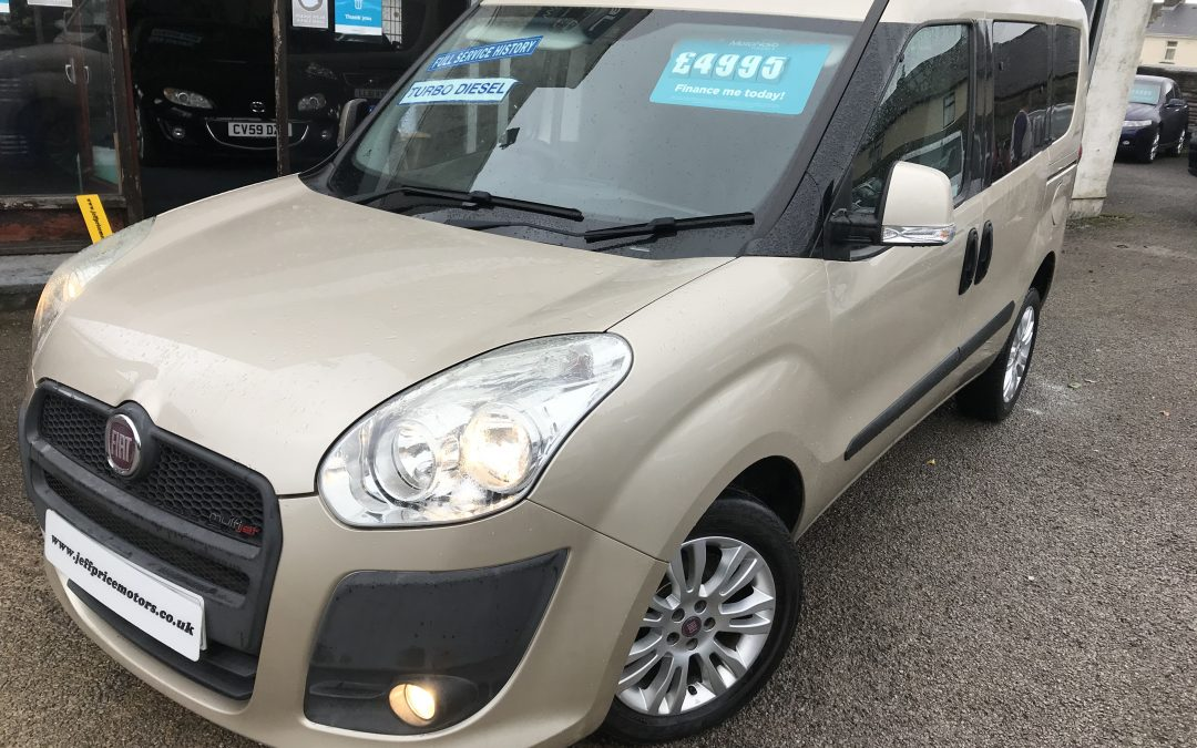 2011 (61) Fiat Doblo Multijet 1.6 Dymamic 105 *2 Keys, 6 Speed, Full Service History, Up to 60 MPG* – £4,995 Or Finance From £113.88 a Month