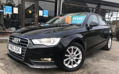 2013 (63) Audi A3 SE TDI 5 Door *Free Road Tax, 2 Owners from new, 6 Speed, Up to 85 MPG* – £6,495 Or finance from just £151.85 a Month
