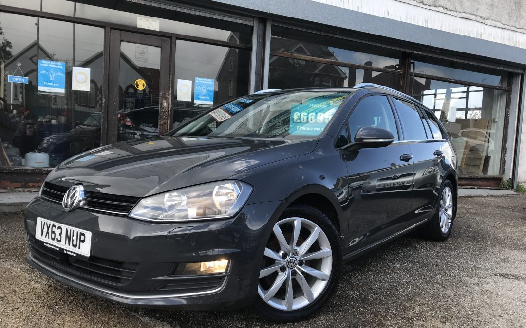 2013 (63) VW Golf GT Bluemotion Tech Estate TDI *£20 Tax, Sunroof, 6 Speed, Up to 76 MPG, Heated Seats, Sat-Nav* – £6,695 or finance from just £151.85 a Month