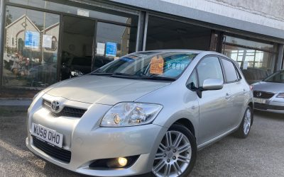 2008 (58) Toyota Auris SR AUTO *17,000 miles from new, Service history, 2 keys, up to 47 mpg* – £4,995 or finance from £216.39 a month