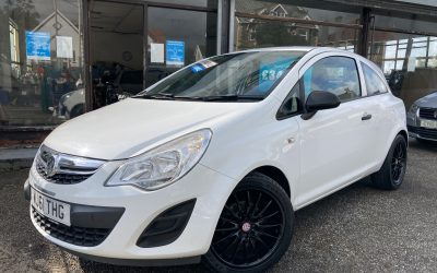 2011 (61) Vauxhall Corsa S Ecoflex *2 Keys, £30 a Year Tax, 2 Owners from new, up to 65 mpg* – £3,495 or finance from just £75.91 a month